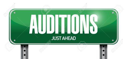 auditions sign illustration design